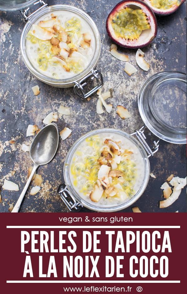 Perles de tapioca à la noix de coco [vegan] [sans gluten] © Le Flexitarien - Annabelle Randles
