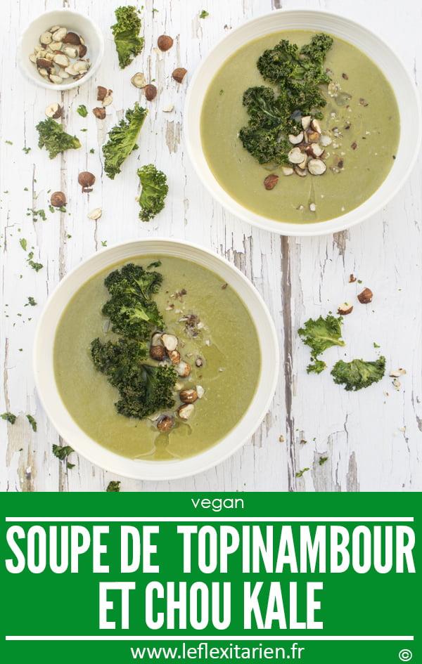 Soupe de topinambour et chou kale [vegan] par Le Flexitarien - Annabelle Randles The Flexitarian ©