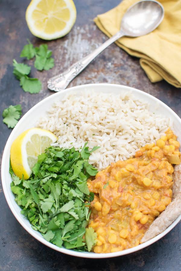 Curry de pois cassés [vegan] [sans gluten] par Le Flexitarien