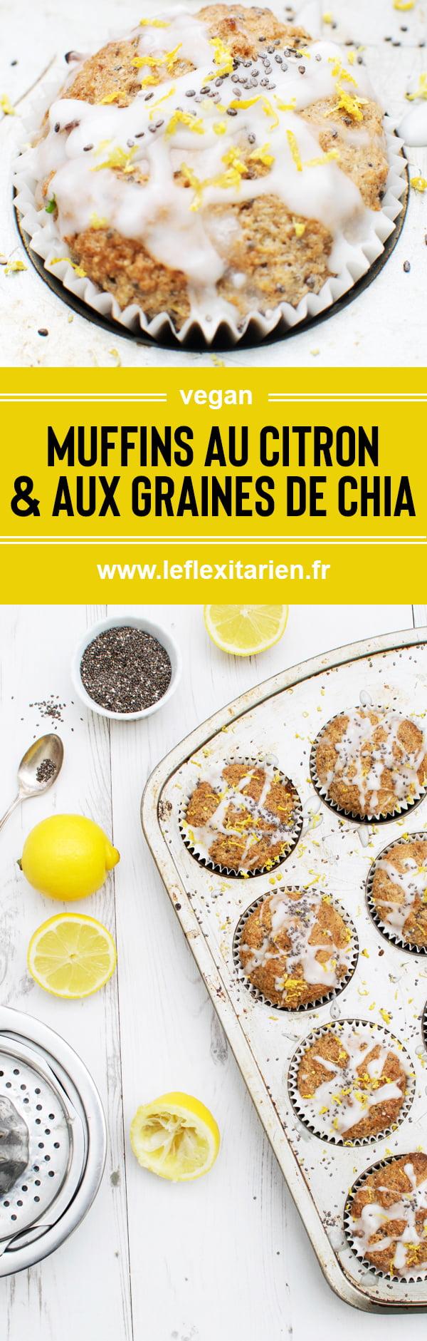 Muffins au citron et aux graines de chia [vegan] Le Flexitarien