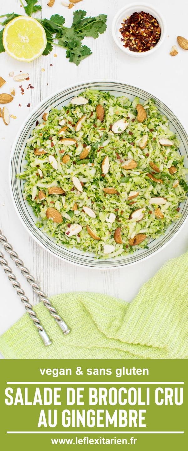 Salade de brocoli cru au gingembre [vegan] par Le Flexitarien