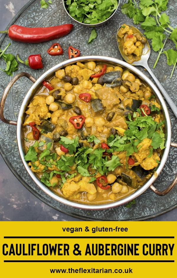 Curry d'aubergine et chou-fleur [vegan] [sans gluten] par Le Flexitarien © Annabelle Randles