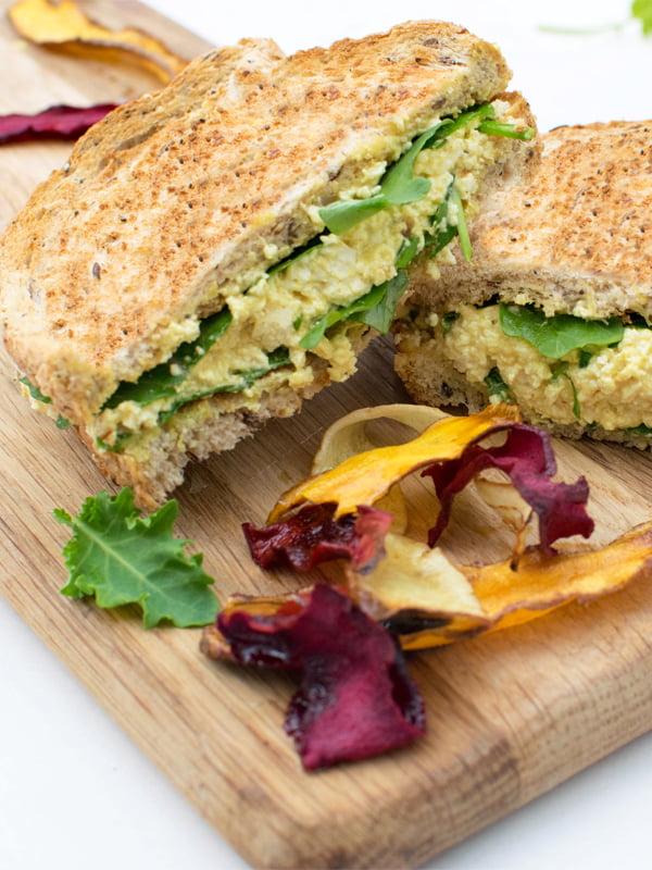 Le sandwich aux œufs .... sans œufs [vegan] par Le Flexitarien 2019 © Annabelle Randles | The Flexitarian