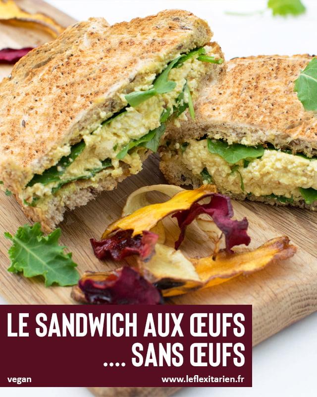 Le sandwich aux œufs .... sans œufs [vegan] par Le Flexitarien 2019 © Annabelle Randles   The Flexitarian