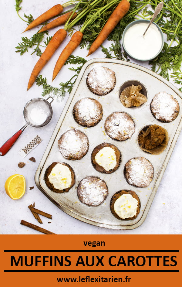 Muffins aux carottes [vegan] © Le Flexitarien- Annabelle Randles