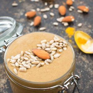 Beurre de graines de tournesol et d'amandes au sirop d'érable [vegan] © Le Flexitarien - Annabelle Randles
