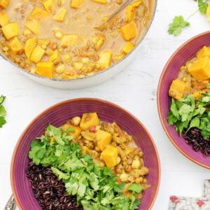 Curry de patates douces et lentilles [vegan] [sans gluten] © Le Flexitarien - Annabelle Randles